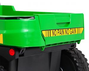 Buggy electric cu bena pentru 2 copii Premier 4x4 Hygge Truck, 6 roti cauciuc EVA, scaun piele ecologica, verde9