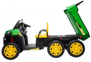 Buggy electric cu bena pentru 2 copii Premier 4x4 Hygge Truck, 6 roti cauciuc EVA, scaun piele ecologica, verde15
