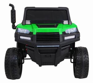 Buggy electric cu bena pentru 2 copii Premier 4x4 Hygge Truck, 6 roti cauciuc EVA, scaun piele ecologica, verde8