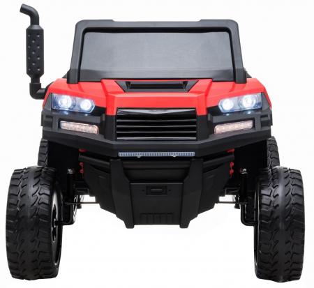 Buggy electric cu bena pentru 2 copii Premier 4x4 Hygge Truck, 6 roti cauciuc EVA, scaun piele ecologica, rosu2