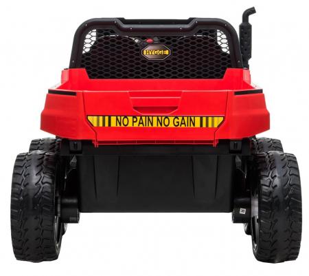Buggy electric cu bena pentru 2 copii Premier 4x4 Hygge Truck, 6 roti cauciuc EVA, scaun piele ecologica, rosu3