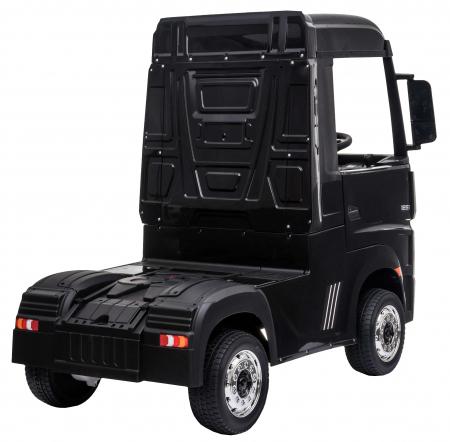 Camion electric Premier Mercedes Actros cu 2 baterii, 4x4, roti cauciuc EVA, scaun piele ecologica, negru [5]