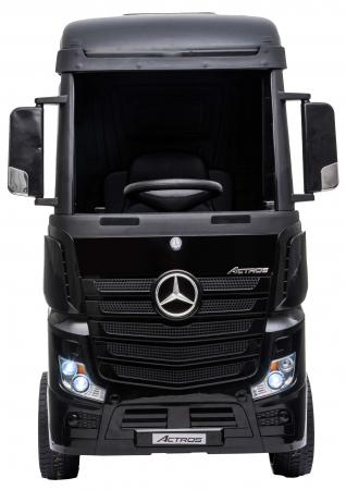 Camion electric Premier Mercedes Actros cu 2 baterii, 4x4, roti cauciuc EVA, scaun piele ecologica, negru [1]