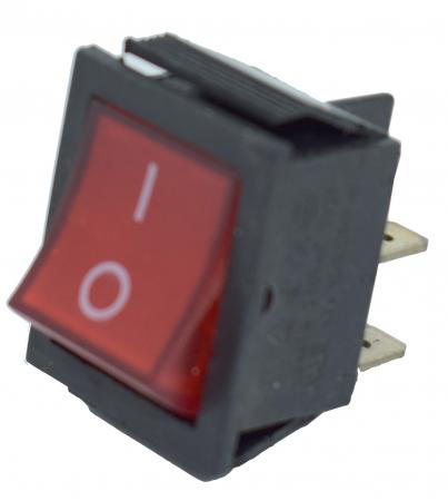 Comutator pornire cu lumina, 2 pozitii, patrat [3]