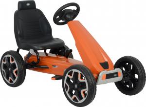 Kart Land Rover cu pedale pentru copii, roti cauciuc Eva, portocaliu3