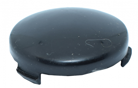 Ornament roata negru semirotund0