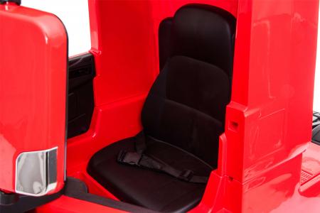 Camion electric Premier Mercedes Actros cu 2 baterii, 4x4, roti cauciuc EVA, scaun piele ecologica, rosu [19]