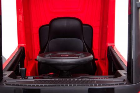 Camion electric Premier Mercedes Actros cu 2 baterii, 4x4, roti cauciuc EVA, scaun piele ecologica, rosu [20]
