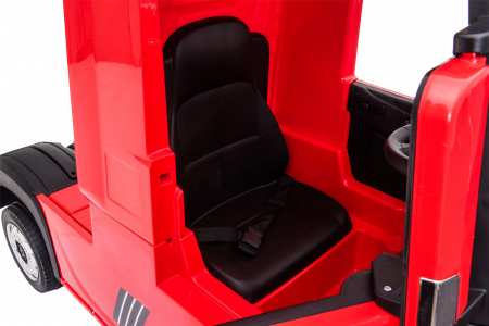 Camion electric Premier Mercedes Actros cu 2 baterii, 4x4, roti cauciuc EVA, scaun piele ecologica, rosu [21]