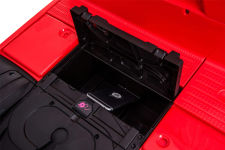 Camion electric Premier Mercedes Actros cu 2 baterii, 4x4, roti cauciuc EVA, scaun piele ecologica, rosu [22]