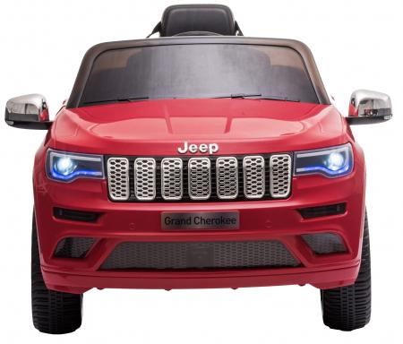 Masinuta electrica Premier Jeep Grand Cherokee, 12V, roti cauciuc EVA, scaun piele ecologica, rosu [3]