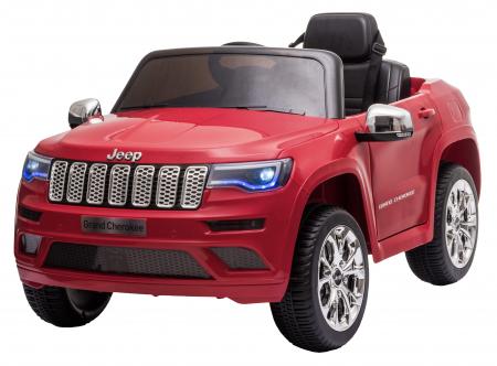 Masinuta electrica Premier Jeep Grand Cherokee, 12V, roti cauciuc EVA, scaun piele ecologica, rosu [4]