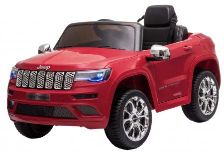 Masinuta electrica Premier Jeep Grand Cherokee, 12V, roti cauciuc EVA, scaun piele ecologica, rosu [6]