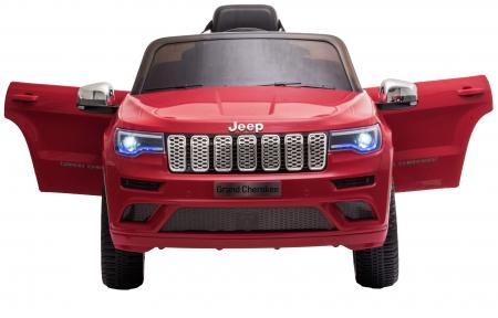 Masinuta electrica Premier Jeep Grand Cherokee, 12V, roti cauciuc EVA, scaun piele ecologica, rosu [11]