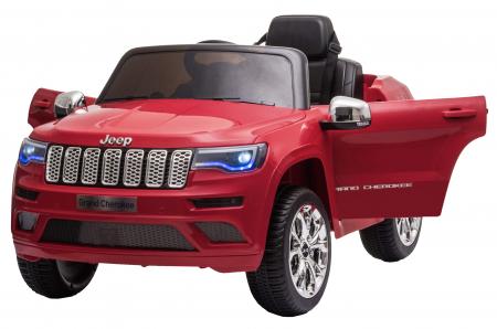 Masinuta electrica Premier Jeep Grand Cherokee, 12V, roti cauciuc EVA, scaun piele ecologica, rosu [2]