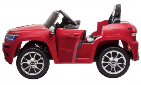 Masinuta electrica Premier Jeep Grand Cherokee, 12V, roti cauciuc EVA, scaun piele ecologica, rosu [12]
