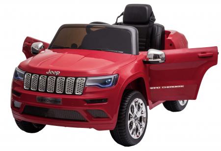 Masinuta electrica Premier Jeep Grand Cherokee, 12V, roti cauciuc EVA, scaun piele ecologica, rosu [16]
