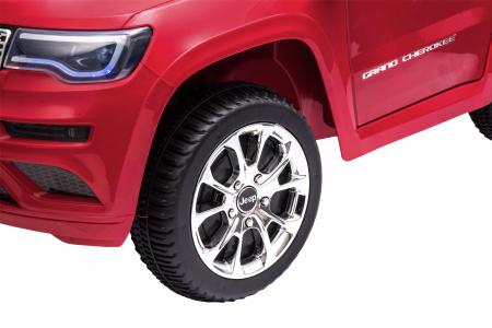 Masinuta electrica Premier Jeep Grand Cherokee, 12V, roti cauciuc EVA, scaun piele ecologica, rosu [17]