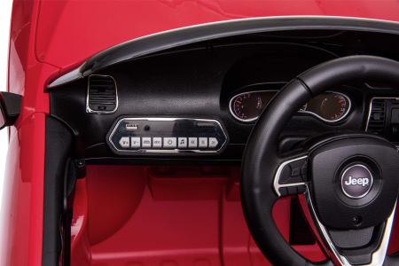 Masinuta electrica Premier Jeep Grand Cherokee, 12V, roti cauciuc EVA, scaun piele ecologica, rosu [25]