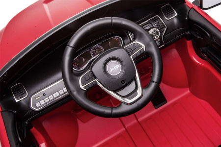 Masinuta electrica Premier Jeep Grand Cherokee, 12V, roti cauciuc EVA, scaun piele ecologica, rosu [26]