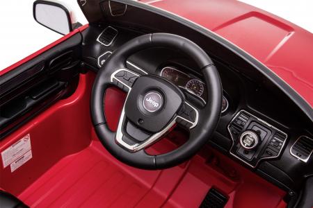 Masinuta electrica Premier Jeep Grand Cherokee, 12V, roti cauciuc EVA, scaun piele ecologica, rosu [29]
