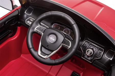 Masinuta electrica Premier Jeep Grand Cherokee, 12V, roti cauciuc EVA, scaun piele ecologica, rosu [39]