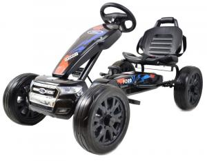 Kart Ford cu pedale pentru copii, roti cauciuc Eva0