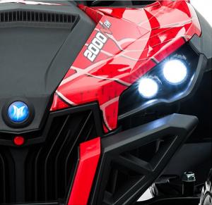 Buggy electric pentru 2 copii Premier 4x4 Superstar, MP4, cu 2 baterii, roti cauciuc EVA, scaun piele ecologica8