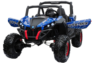Buggy electric pentru 2 copii Premier 4x4 Superstar, cu 2 baterii, roti cauciuc EVA, scaun piele ecologica0