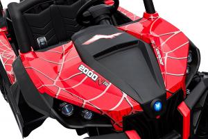 Buggy electric pentru 2 copii Premier 4x4 Superstar, MP4, cu 2 baterii, roti cauciuc EVA, scaun piele ecologica11