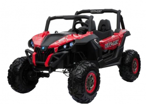 Buggy electric pentru 2 copii Premier 4x4 Superstar, MP4, cu 2 baterii, roti cauciuc EVA, scaun piele ecologica0