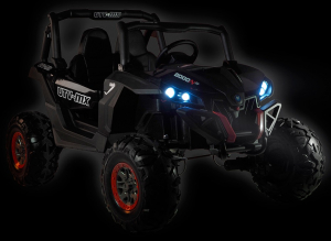Buggy electric pentru 2 copii Premier 4x4 Superstar, MP4, cu 2 baterii, roti cauciuc EVA, scaun piele ecologica2