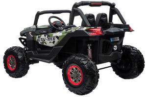 Buggy electric pentru 2 copii Premier 4x4 Superstar, cu 2 baterii, roti cauciuc EVA, scaun piele ecologica, camuflaj [3]