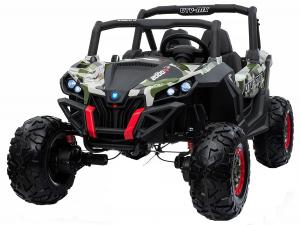 Buggy electric pentru 2 copii Premier 4x4 Superstar, cu 2 baterii, roti cauciuc EVA, scaun piele ecologica, camuflaj [0]