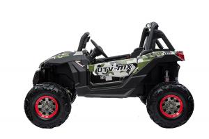 Buggy electric pentru 2 copii Premier 4x4 Superstar, cu 2 baterii, roti cauciuc EVA, scaun piele ecologica, camuflaj [4]