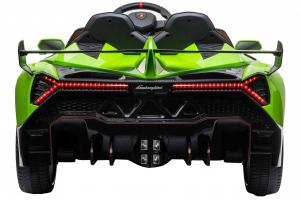 Masinuta electrica 4 x 4 Premier Lamborghini Veneno, 12V, roti cauciuc EVA, scaun piele ecologica, verde [5]