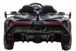 Masinuta electrica 4 x 4 Premier Lamborghini Veneno, 12V, roti cauciuc EVA, scaun piele ecologica, argintiu6