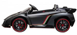 Masinuta electrica 4 x 4 Premier Lamborghini Veneno, 12V, roti cauciuc EVA, scaun piele ecologica, argintiu3