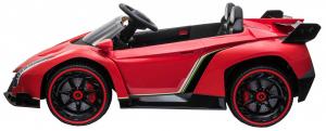 Masinuta electrica 4 x 4 Premier Lamborghini Veneno, 12V, roti cauciuc EVA, scaun piele ecologica, rosu3