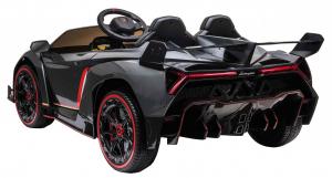 Masinuta electrica 4 x 4 Premier Lamborghini Veneno, 12V, roti cauciuc EVA, scaun piele ecologica, argintiu5