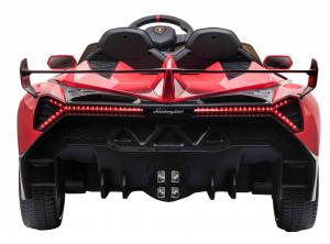 Masinuta electrica 4 x 4 Premier Lamborghini Veneno, 12V, roti cauciuc EVA, scaun piele ecologica, rosu5