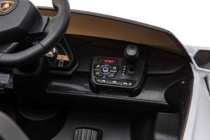 Masinuta electrica 4 x 4 Premier Lamborghini Veneno, 12V, roti cauciuc EVA, scaun piele ecologica, argintiu2