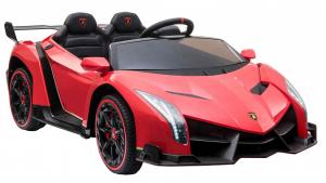 Masinuta electrica 4 x 4 Premier Lamborghini Veneno, 12V, roti cauciuc EVA, scaun piele ecologica, rosu6