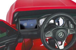 Masinuta electrica 4 x 4 Premier Mercedes X-Class, 12V, ecran LCD, MP4, roti cauciuc EVA, scaun piele ecologica, rosu [4]