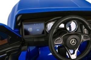Masinuta electrica 4 x 4 Premier Mercedes X-Class, 12V, ecran LCD, MP4, roti cauciuc EVA, scaun piele ecologica, albastru9