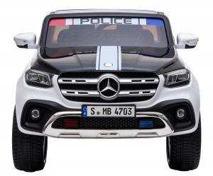 Masinuta electrica 4 x 4 Premier Mercedes X-Class Police, 12V, roti cauciuc EVA, scaun piele ecologica, alb1