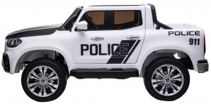 Masinuta electrica 4 x 4 Premier Mercedes X-Class Police, 12V, roti cauciuc EVA, scaun piele ecologica, alb3