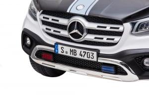 Masinuta electrica 4 x 4 Premier Mercedes X-Class Police, 12V, roti cauciuc EVA, scaun piele ecologica, alb11