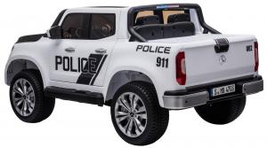 Masinuta electrica 4 x 4 Premier Mercedes X-Class Police, 12V, roti cauciuc EVA, scaun piele ecologica, alb4