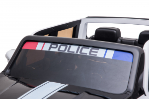 Masinuta electrica 4 x 4 Premier Mercedes X-Class Police, 12V, roti cauciuc EVA, scaun piele ecologica, alb [12]